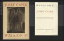 JOSEF ČAPEK. Quarante reproductions. Introduction de Karel Čapek. - MUSAION V. 1924. Text in French. - 10395283913