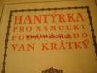 Kniha o Hantýrce pro samouky (slang argot)
