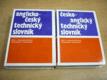 Anglicko český, česko anglický technický slovník, 2 svazky (1992