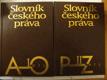 Slovník českého práva A-O, P-Z