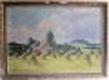 Pohled na Říp od vesnické chalupy