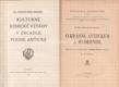 Kulturně ethické vztahy v zrcadle poesie antické; Henry Beyle-Stendhal - O krásnu antickém a moderním (úvodní studie Kritik Věstec - K. Svoboda)