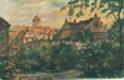 Výhled z lázeňského sadu poděbradského na zámek krále Jiřího