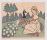 Josef Lada - zinkografie, 20. léta č. 29812/3 Dívka a páv