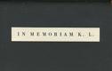 IN MEMORIAM KARLA LEGERA