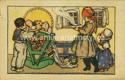 Pohled 57907  Novoroční přání-podle M.Fischerové-Kvěchové